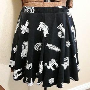 F21 Animal Skater Skirt